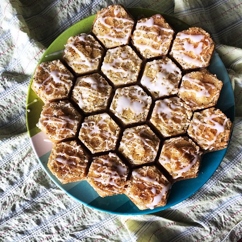 Nordicware makes the honeycomb pan. I love it! Like cupcakes but in one pull-apart shape.