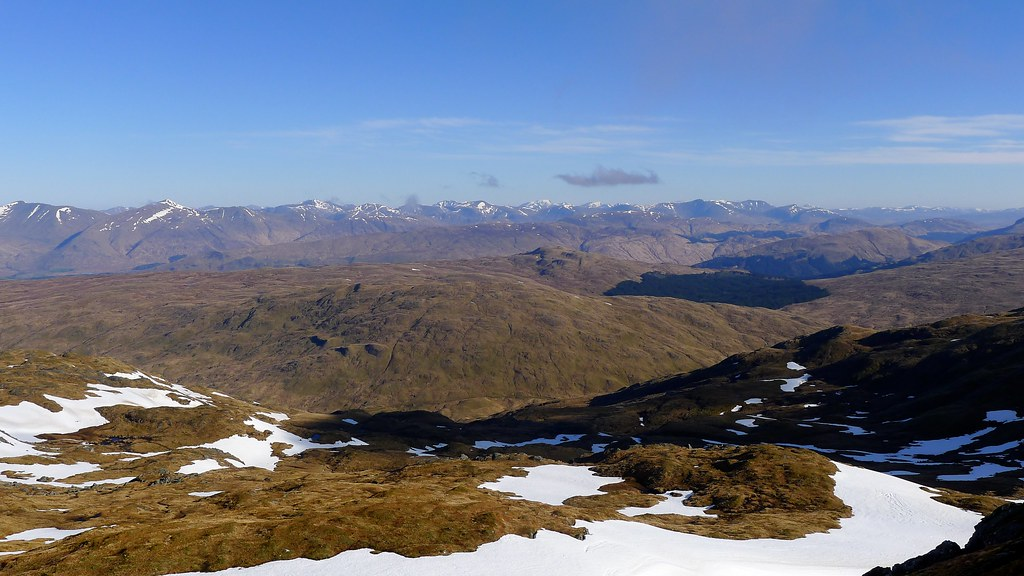 The Central Highlands from Beinn Bhuidhe