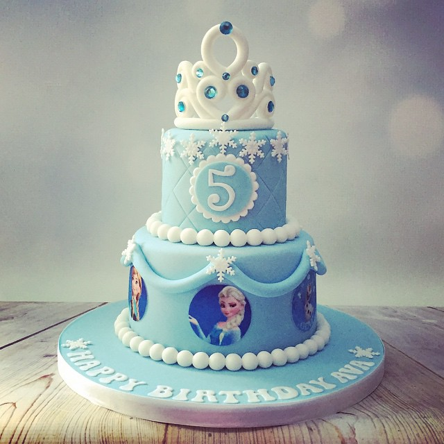 This Mornings Pretty Frozen Theme Birthday Cake Cute DisneyFrozenCake