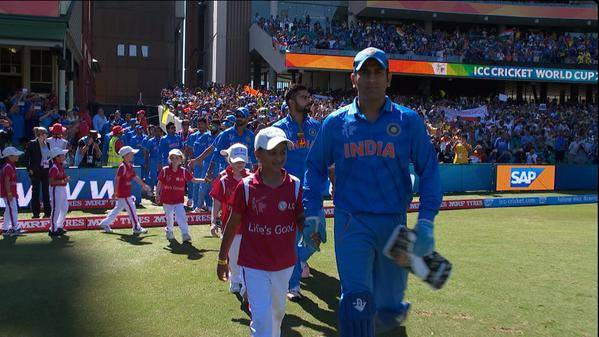 Ms dhoni in the wc