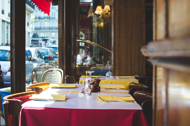 At Relais de l'Entrecôte Saint-Germain, choose a seat near the huge, open windows for prime people watching opportunities.
