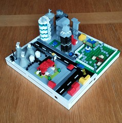 Lego Microscale City (with power functions)