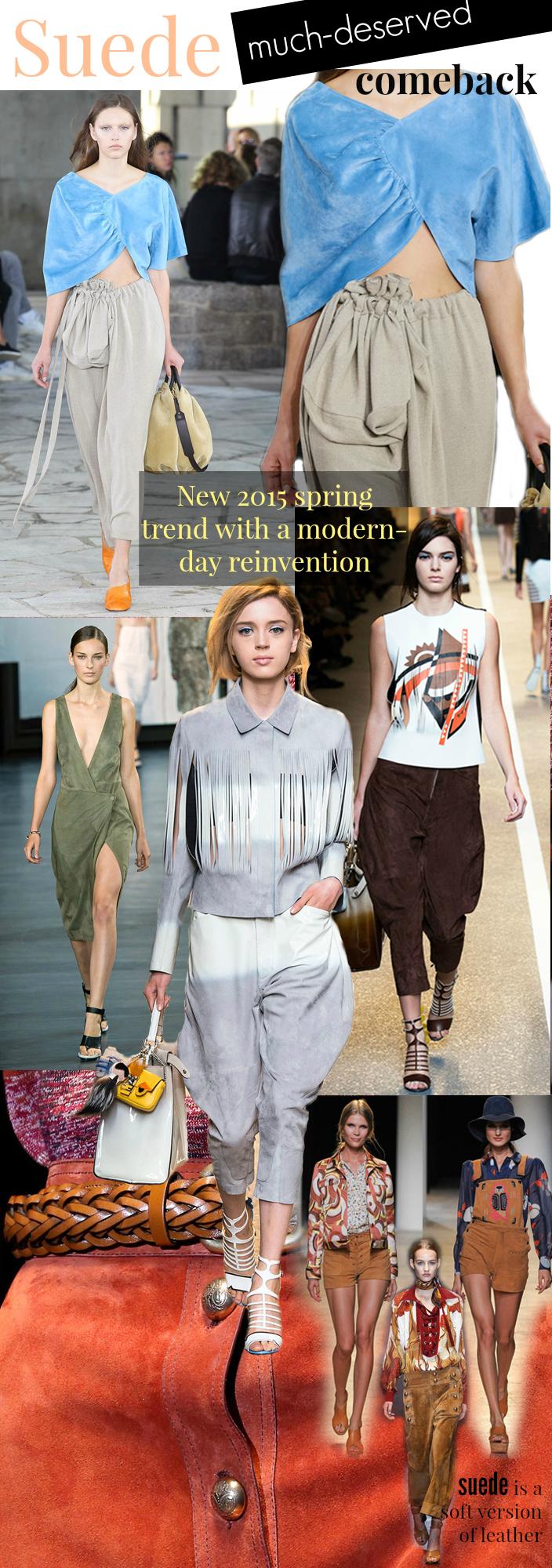 Suede 2015 Trend
