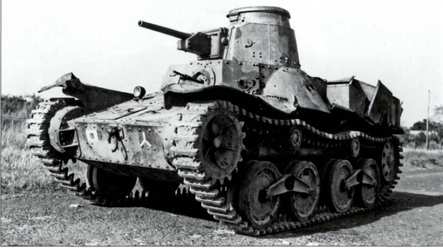 Japanese Type 95. Arguably one of the worst tanks involved in WW2