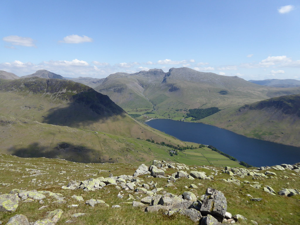 The Scafells and Wastwater from Middle Fell