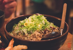 Oxtail fried rice - daikon, shiitake, bone marrow