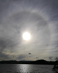 Sun halo at Llyn Tegid this evening