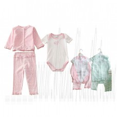 New Born Baby Gift 3 Pcs Set Baby Clothes Long Sleeve Print Rose Pants 0-12 Months