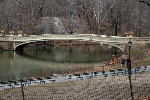 Central Park: uno dei ponti e dei laghetti