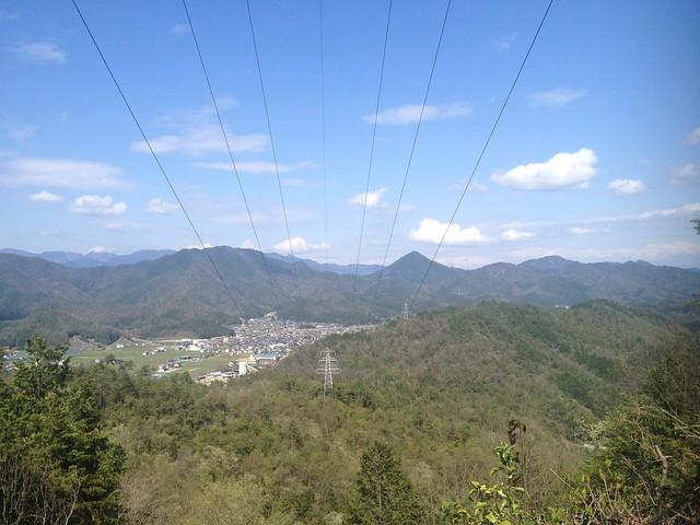 茶臼山 464番鉄塔 天王山方面の眺望