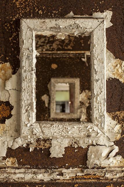 inside the frame.
