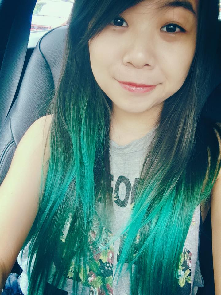 black green ombre hair manic panic atomic turquoise