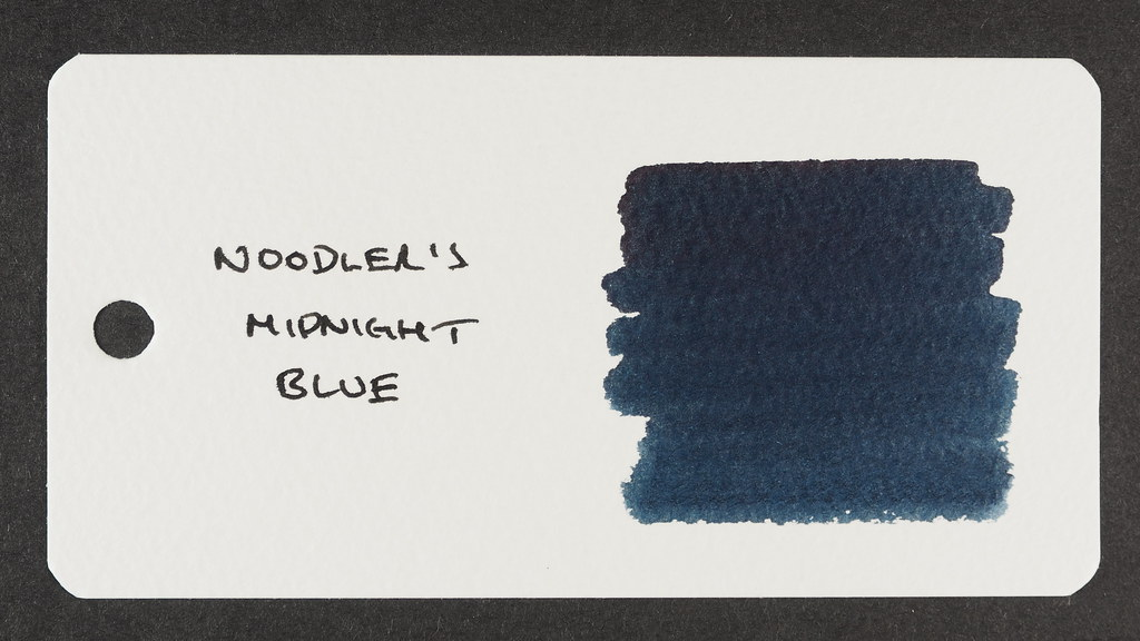 Noodler's Midnight Blue - Word Card
