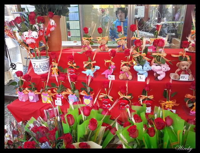 Peluches con rosas