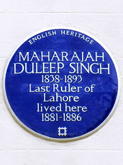 Photo of Duleep Singh blue plaque