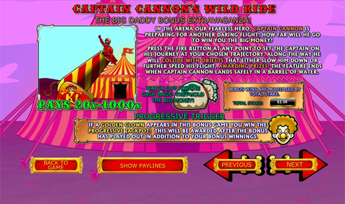 free Captain Cannon's Circus of Wild Ride