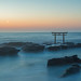 夜明けの神磯の鳥居 Kamiiso no Torii at dawn by yumaito0