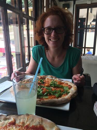 Aguas Calientes: après l'effort, le réconfort. Une pizza bien méritée !