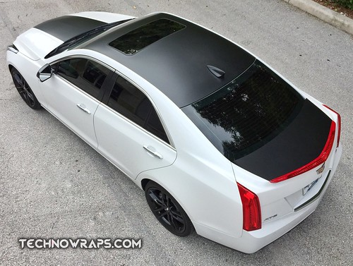 Cadillac ATS with Satin Black wrap accents