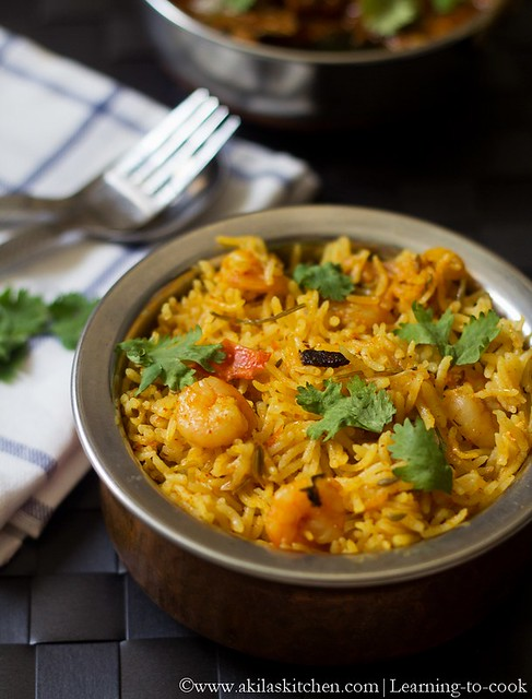 How to make prawn biryani