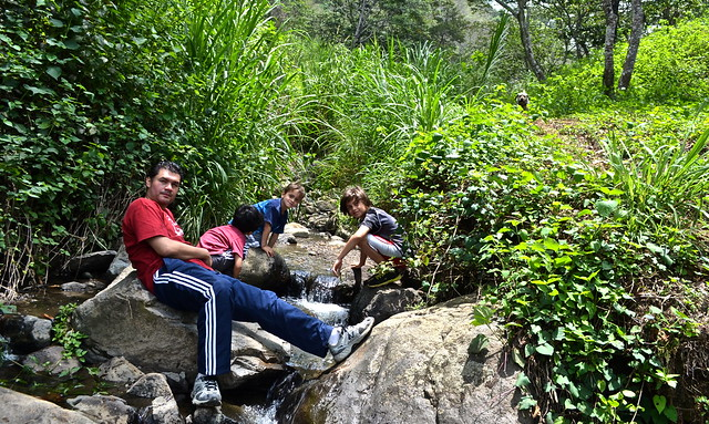 waterfall hike - Green Rush Nature Park, Guatemala