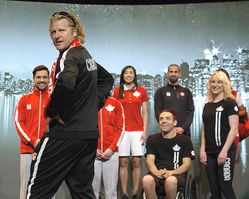 Curt Harnett walks the walk - HBC uniform unveil, Toronto 2015