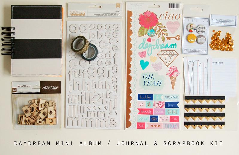 Daydream mini album and scrapbook kit