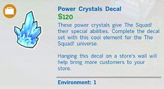 Power Crystals Decal