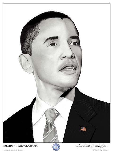 """Obama Portrait"" by Alim Smith (Yesterday Nite)"