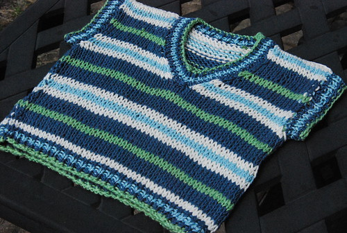 Stripey knit boy vest by irieknit in Sirdar Baby Bamboo