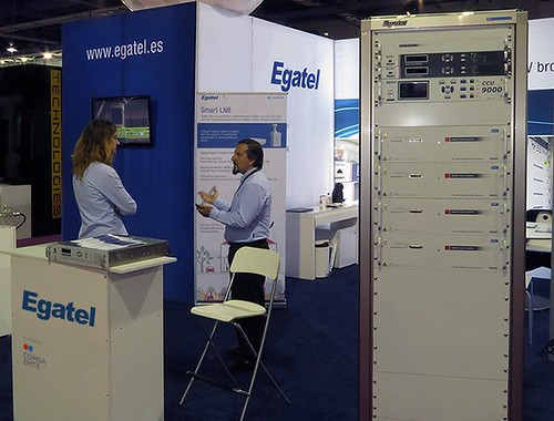 Egatel presents its new TV transmitters in Las Vegas (USA)