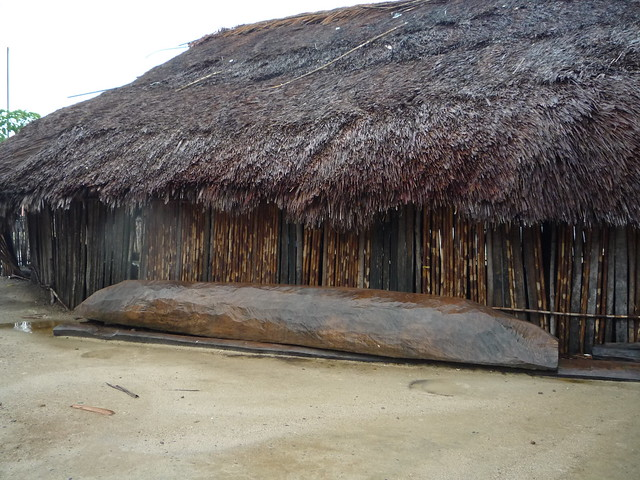 A Carved Boat on our Walking Tour of New Caledonia