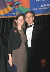 DG Matthew presented his wife Sonia with a recognition award for being by his side this past Rotary year.