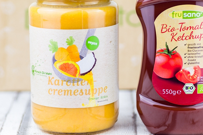 Degustabox April 2015, Degustabox Gewinnspiel, Frusano Tomaten Ketchup, Wünsch dir Mahl Karottencremesuppe