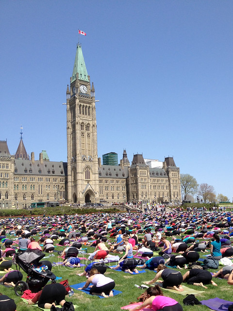 Yoga on Parliament Hill