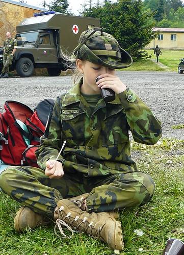 Nejmladší účastnice závodu Kristýna Polenová