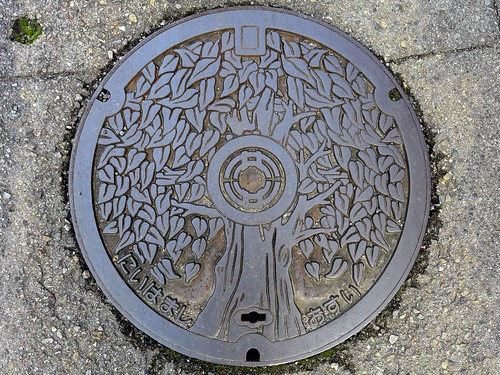 Nihama Ehime, manhole cover 3 (愛媛県新居浜市のマンホール3)
