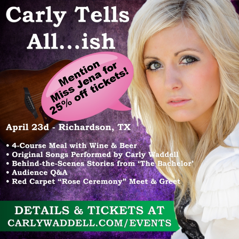 Carly Waddell event in Dallas 25% off tickets