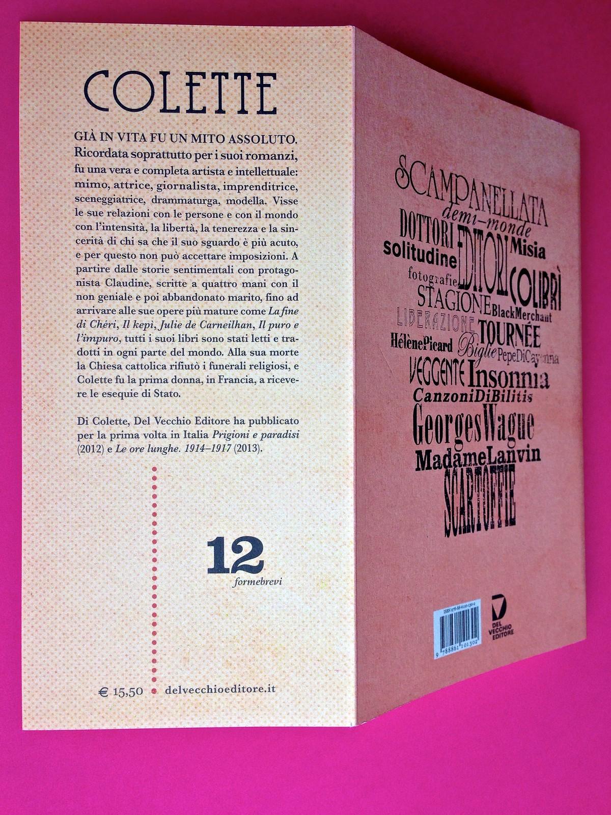 La stella del vespro, di Colette. Del Vecchio Editore 2015. Art direction, cover, illustrazioni, logo design: IFIX | Maurizio Ceccato. Risvolto e quarta di copertina (part.), 1