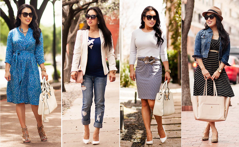 cute & little blog   petite fashion   eve of eden maternity nursing outfits roundup collage