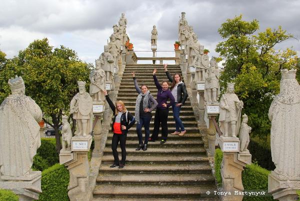 16 - Невероятные приключения москвичек в Каштелу Бранку - Епископский сад