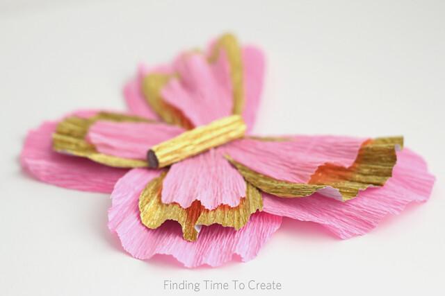 Italian Crepe Paper butterfly - detail
