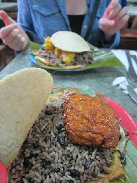Best Lunch Ever - Gallo Pinto, in the Market in San Jose, Costa Rica