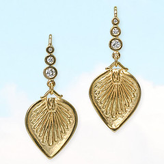 """Roman Lotus"" earrings"