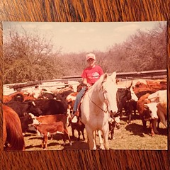 #tbt 1981. Pretty sure I'm rocking some sweet Kaepa Double Laces in the saddle.