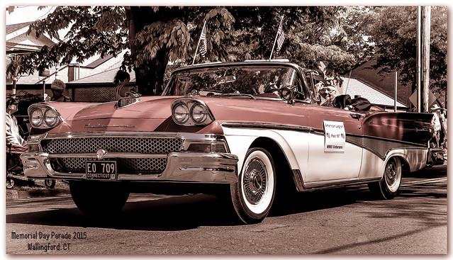 1958 Ford Fairlane Memorial Day Parade Wallingford 2015