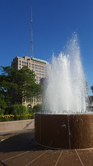 """Photo of the Day for August 26, 2016: """"Maccabees building from the DIA fountains"""""""
