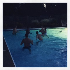 Fifties or fifteen??? #poolparty #howoldarewe?  #forever young