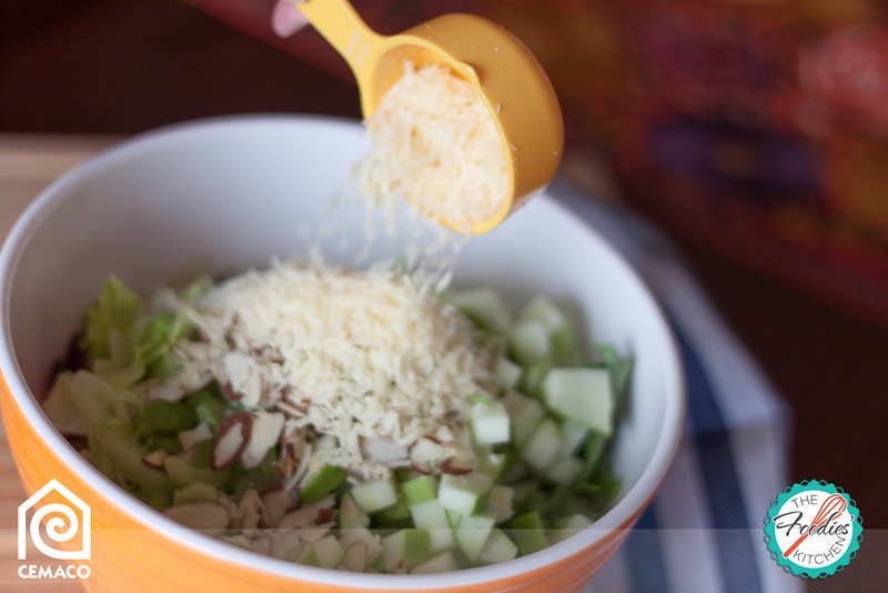 Green Salad with Hibiscus /Roselle/Rosa de Jamaica Infused Vinegar