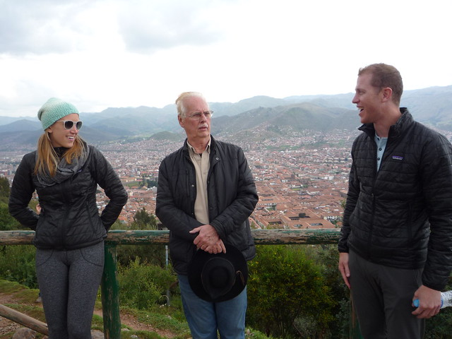 Maggie, Cory and Richard on our tour of Cuzco